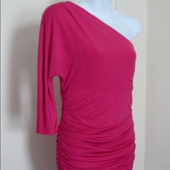 Express Dresses & Skirts - 💖Express Hot Pink One Shoulder Bodycon Dress